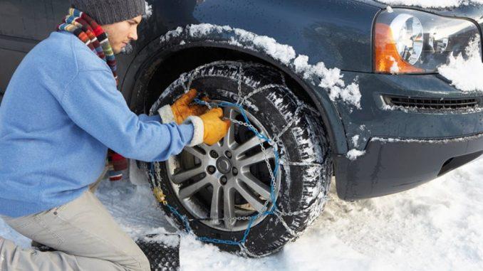 chaînes de pneus pour voiture